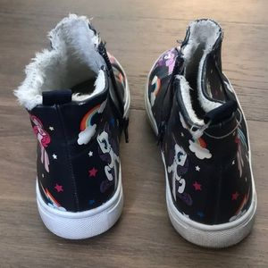 b926e126f7ef H M Shoes - HM Girls Black My Little Pony High Top Sneakers